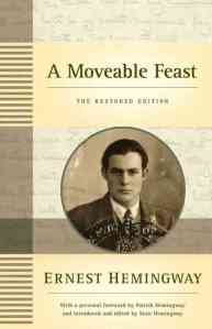A Moveable Feast by Ernest Hemingway book cover